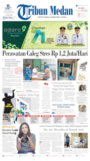Cover Tribun Medan 15 April 2019