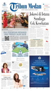 Cover Tribun Medan 20 April 2019