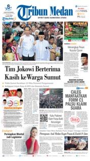 Cover Tribun Medan 22 Mei 2019