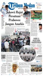 Cover Tribun Medan 23 Mei 2019