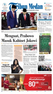Tribun Medan Cover 21 October 2019