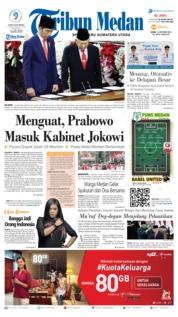 Cover Tribun Medan 21 Oktober 2019