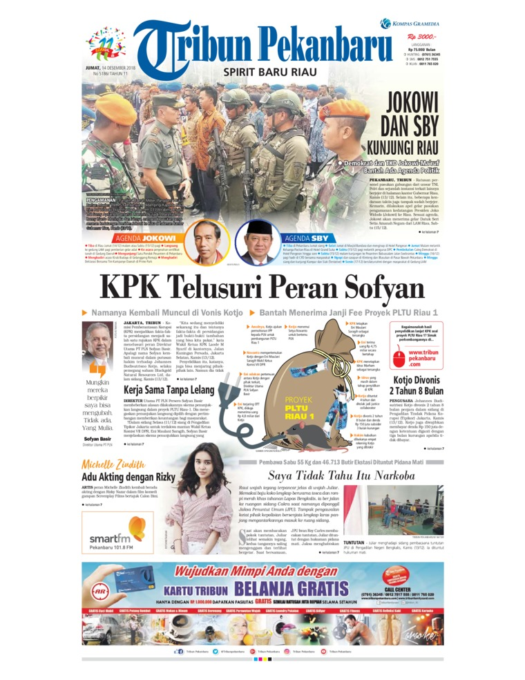 Tribun Pekanbaru Digital Newspaper 14 December 2018