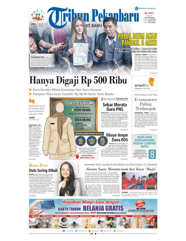 Koran Digital Tribun Pekanbaru 11 Januari 2019