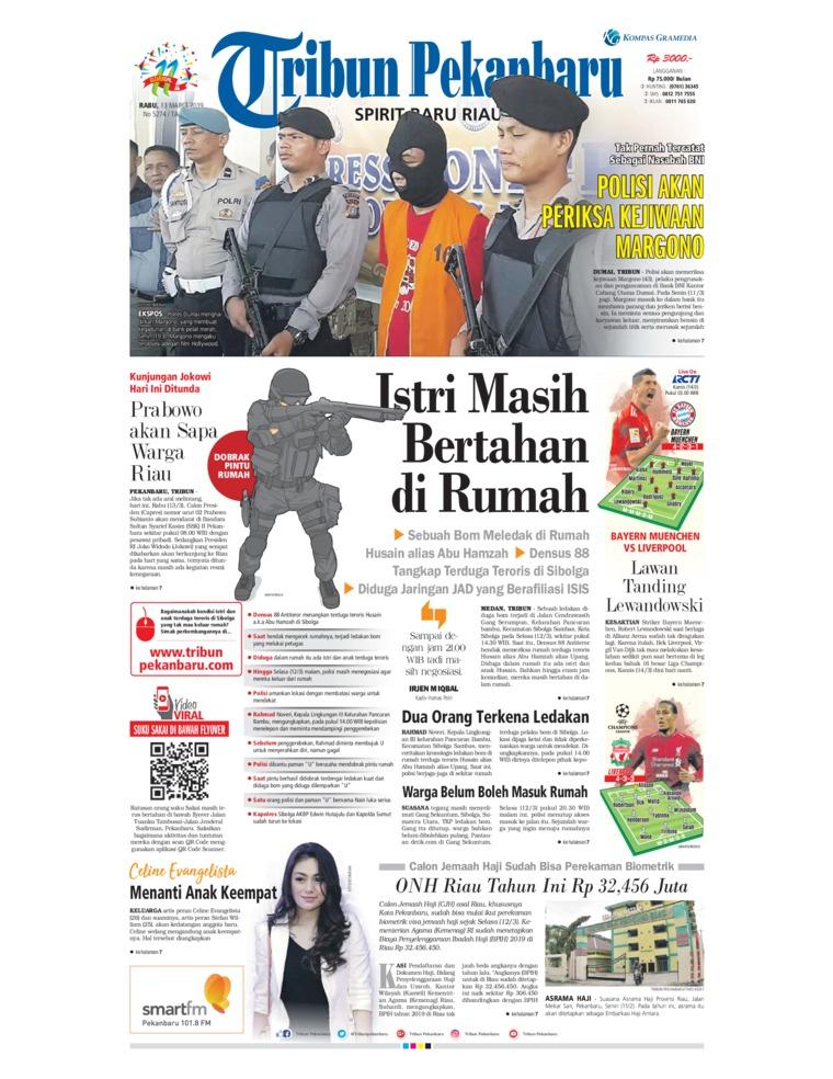 Koran Digital Tribun Pekanbaru 13 Maret 2019