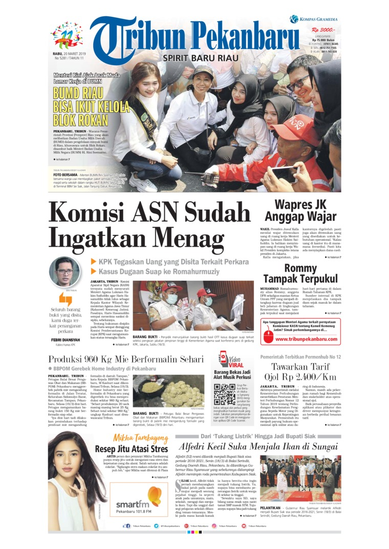 Koran Digital Tribun Pekanbaru 20 Maret 2019