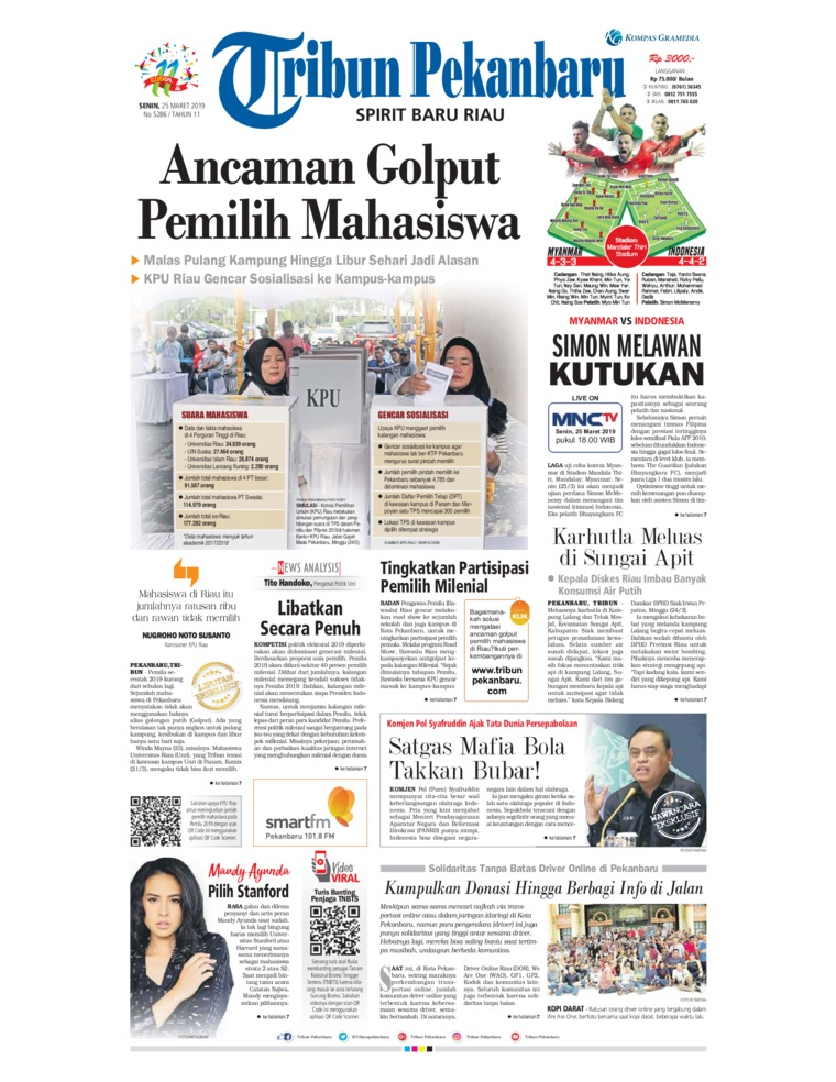 Tribun Pekanbaru Digital Newspaper 25 March 2019
