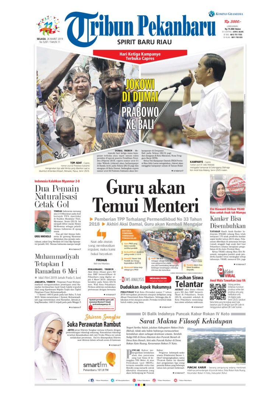 Koran Digital Tribun Pekanbaru 26 Maret 2019