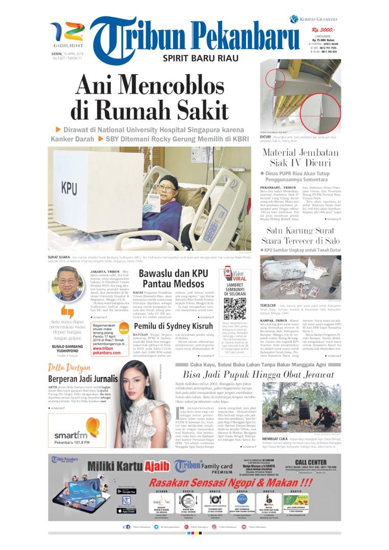 Koran Digital Tribun Pekanbaru 15 April 2019