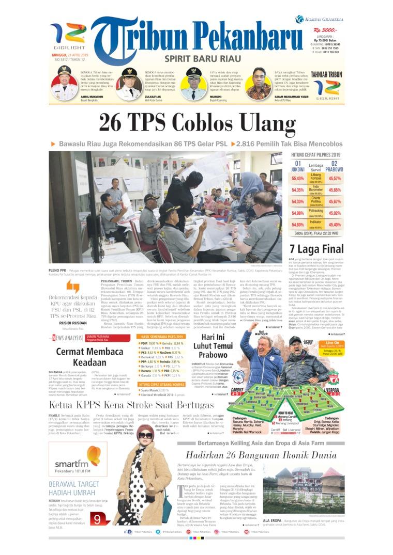 Tribun Pekanbaru Digital Newspaper 21 April 2019
