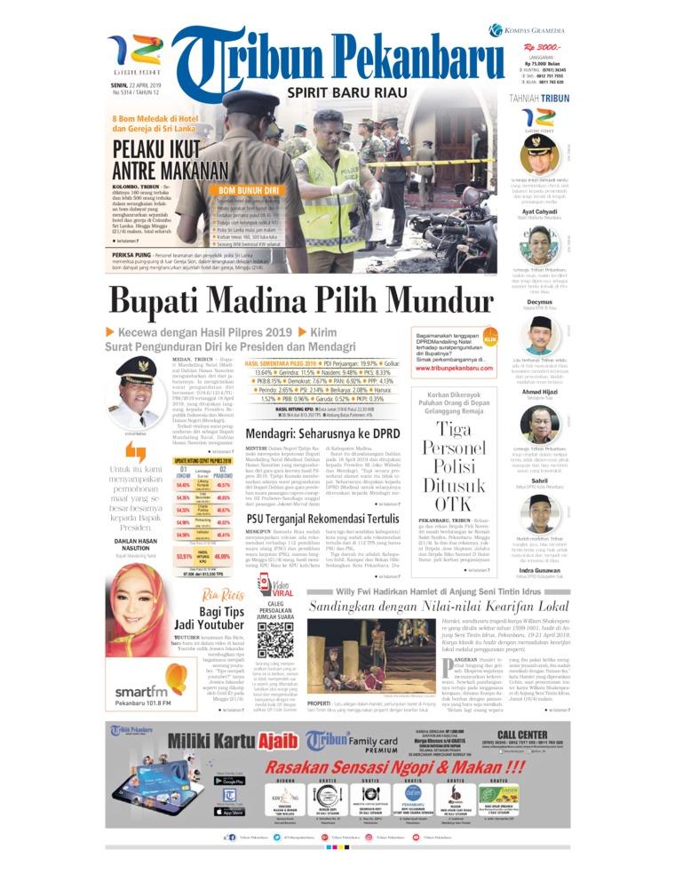 Koran Digital Tribun Pekanbaru 22 April 2019