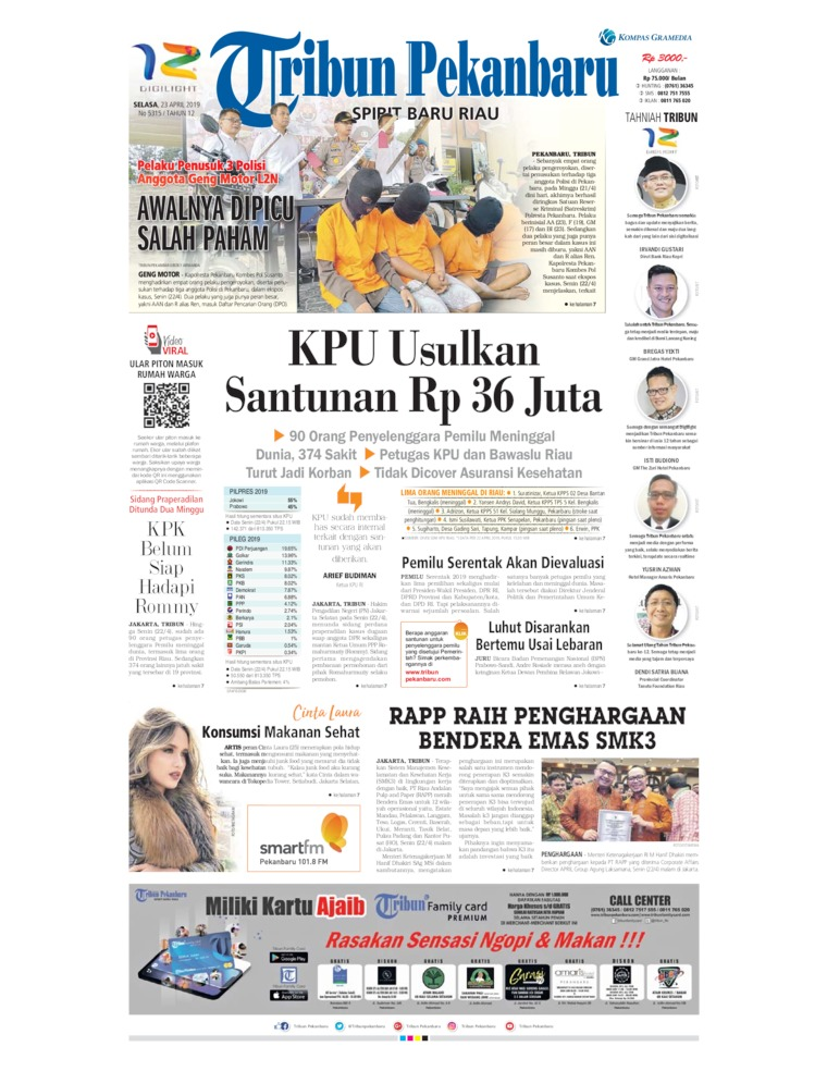 Tribun Pekanbaru Digital Newspaper 23 April 2019