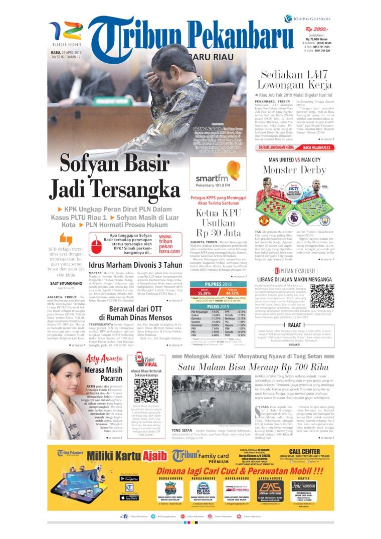 Tribun Pekanbaru Digital Newspaper 24 April 2019
