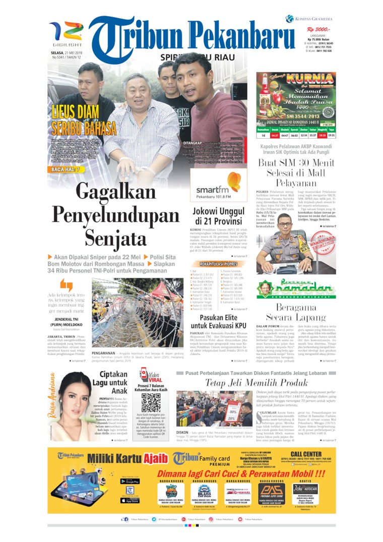 Tribun Pekanbaru Digital Newspaper 21 May 2019