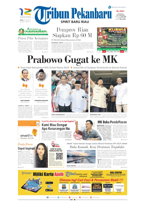 Koran Digital Tribun Pekanbaru 22 Mei 2019