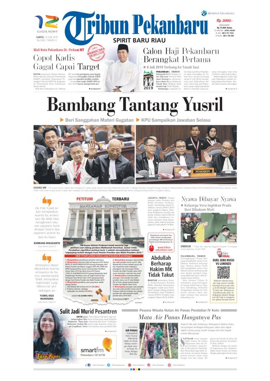 Koran Digital Tribun Pekanbaru 15 Juni 2019