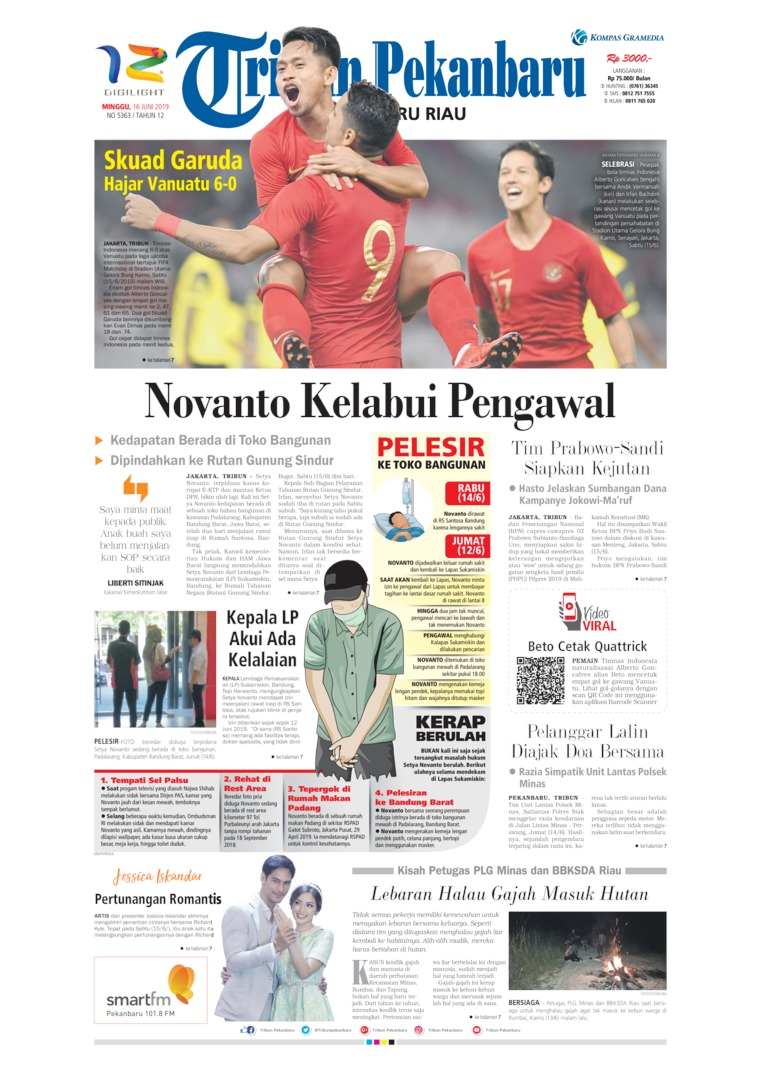 Tribun Pekanbaru Digital Newspaper 16 June 2019