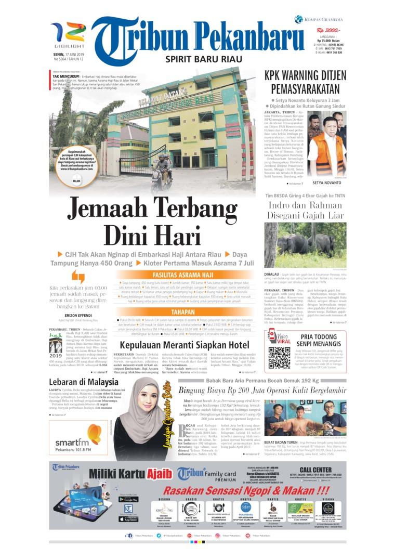 Tribun Pekanbaru Digital Newspaper 17 June 2019