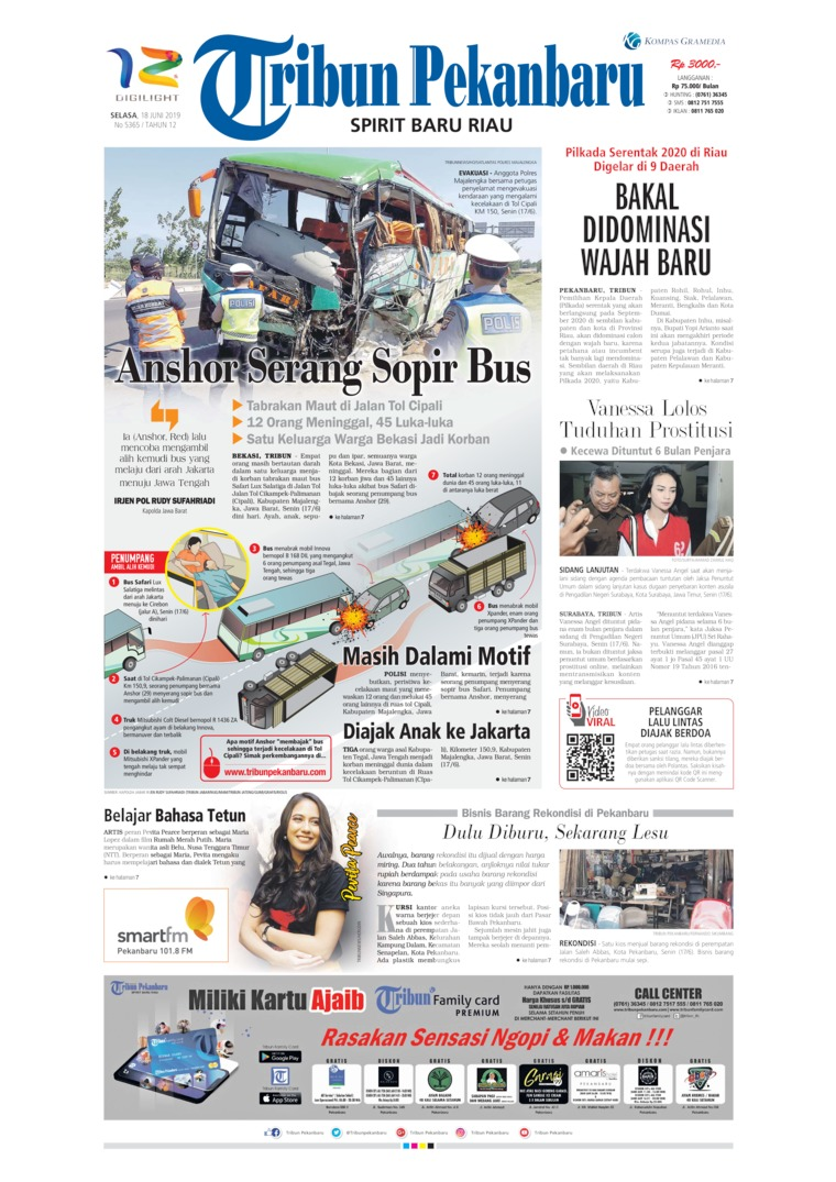 Tribun Pekanbaru Digital Newspaper 18 June 2019