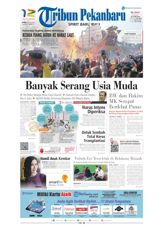 Koran Digital Tribun Pekanbaru 20 Juni 2019