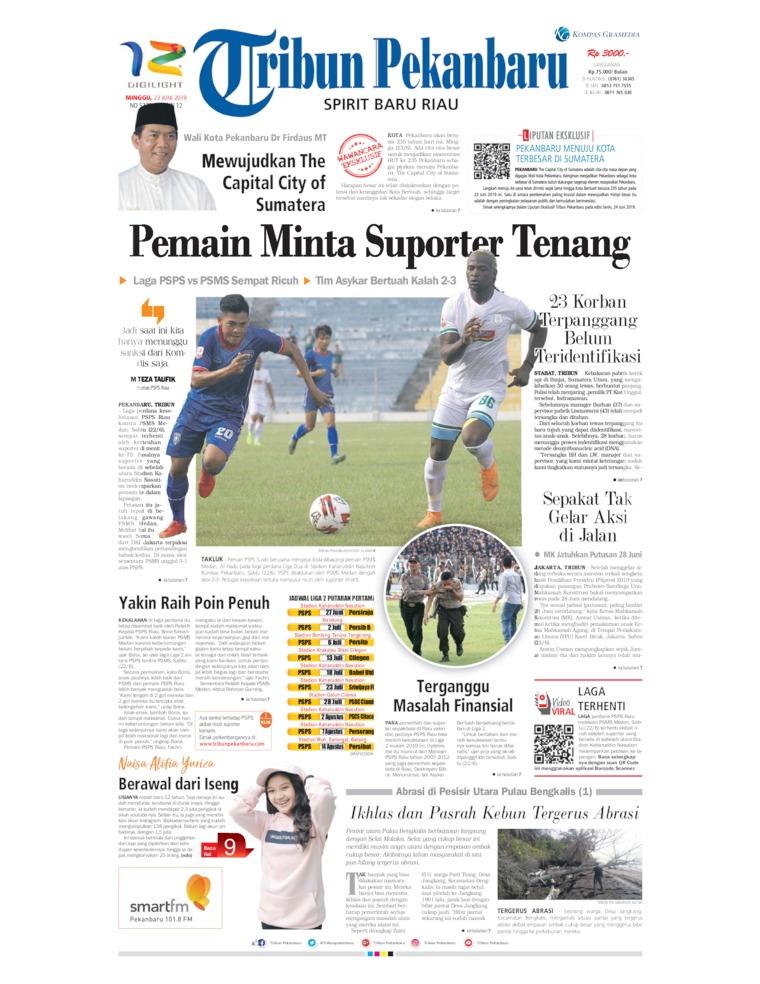 Koran Digital Tribun Pekanbaru 23 Juni 2019
