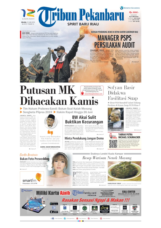 Tribun Pekanbaru Digital Newspaper 25 June 2019