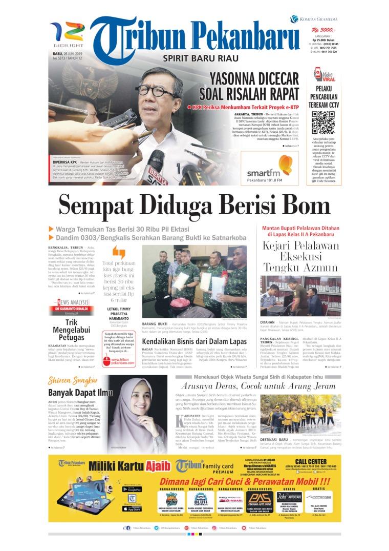 Tribun Pekanbaru Digital Newspaper 26 June 2019