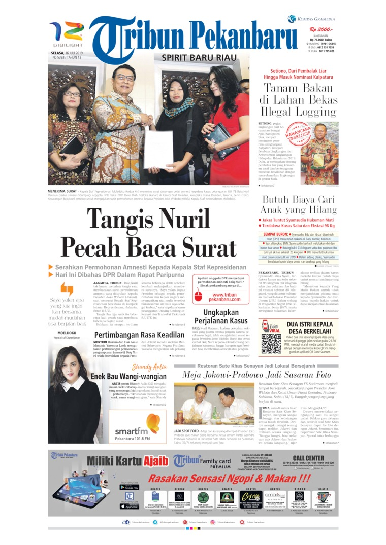 Tribun Pekanbaru Digital Newspaper 16 July 2019