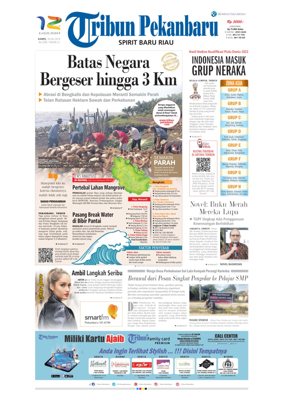 Tribun Pekanbaru Digital Newspaper 18 July 2019