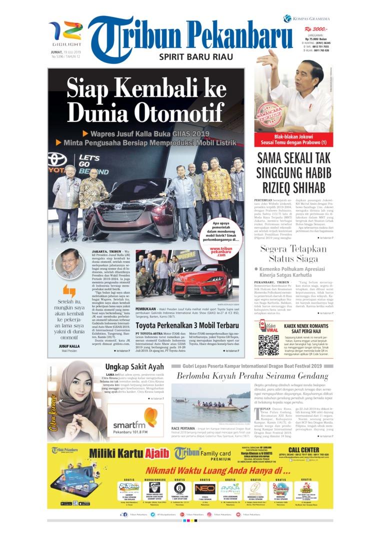 Tribun Pekanbaru Digital Newspaper 19 July 2019