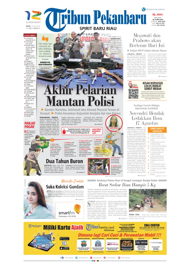 Tribun Pekanbaru Digital Newspaper 24 July 2019
