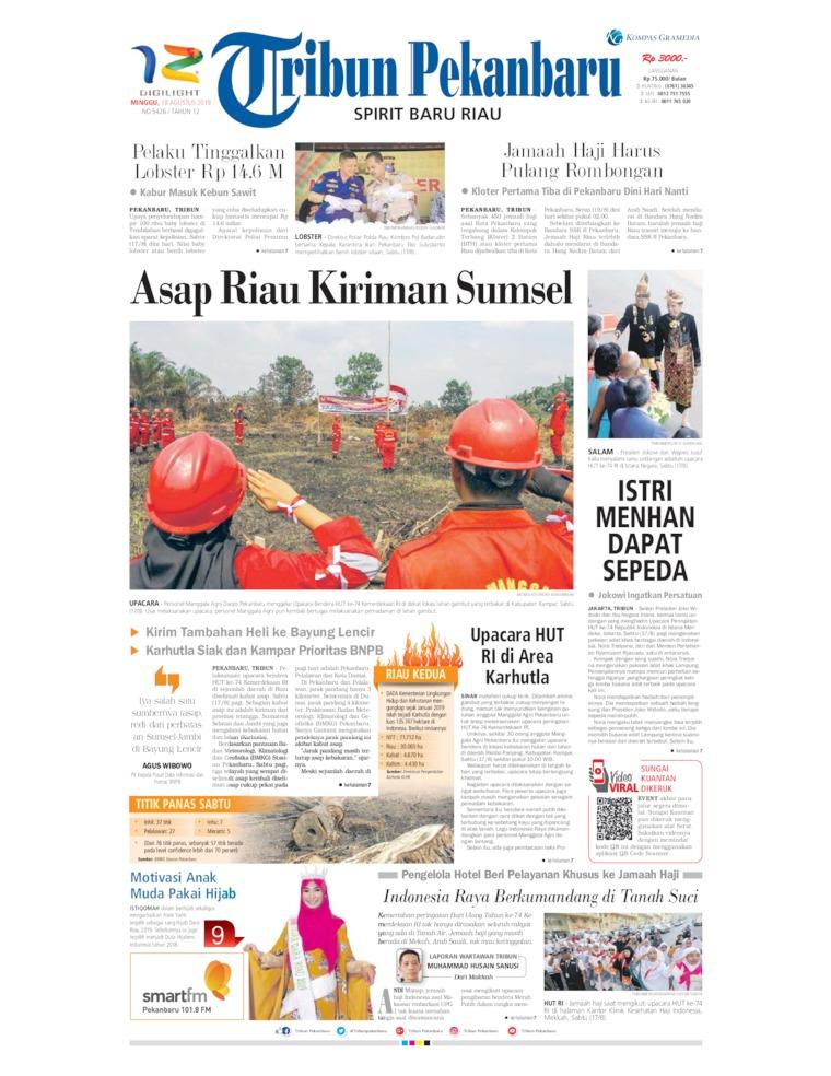 Koran Digital Tribun Pekanbaru 18 Agustus 2019