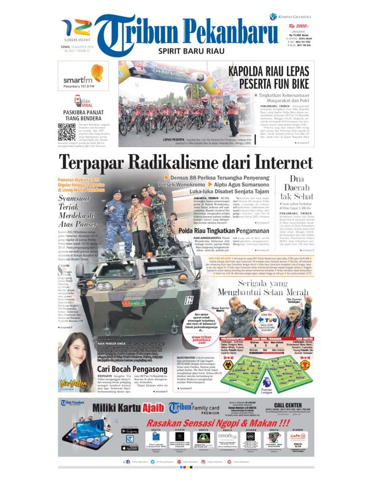 Tribun Pekanbaru Digital Newspaper 19 August 2019
