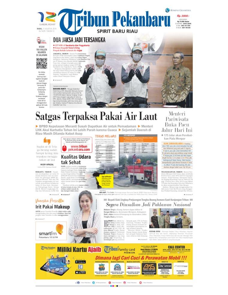 Koran Digital Tribun Pekanbaru 21 Agustus 2019