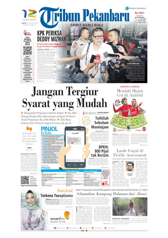 Tribun Pekanbaru Digital Newspaper 24 August 2019