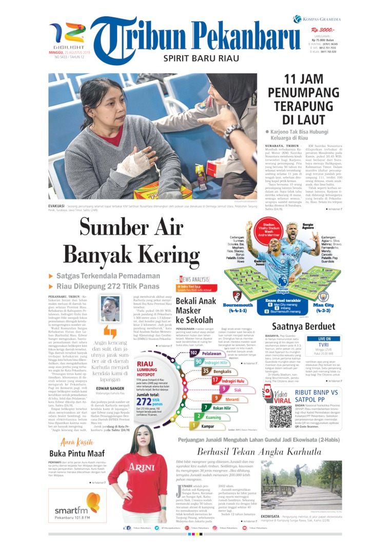 Tribun Pekanbaru Digital Newspaper 25 August 2019