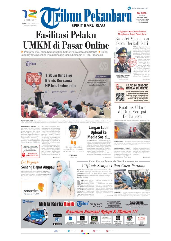 Tribun Pekanbaru Digital Newspaper 26 August 2019