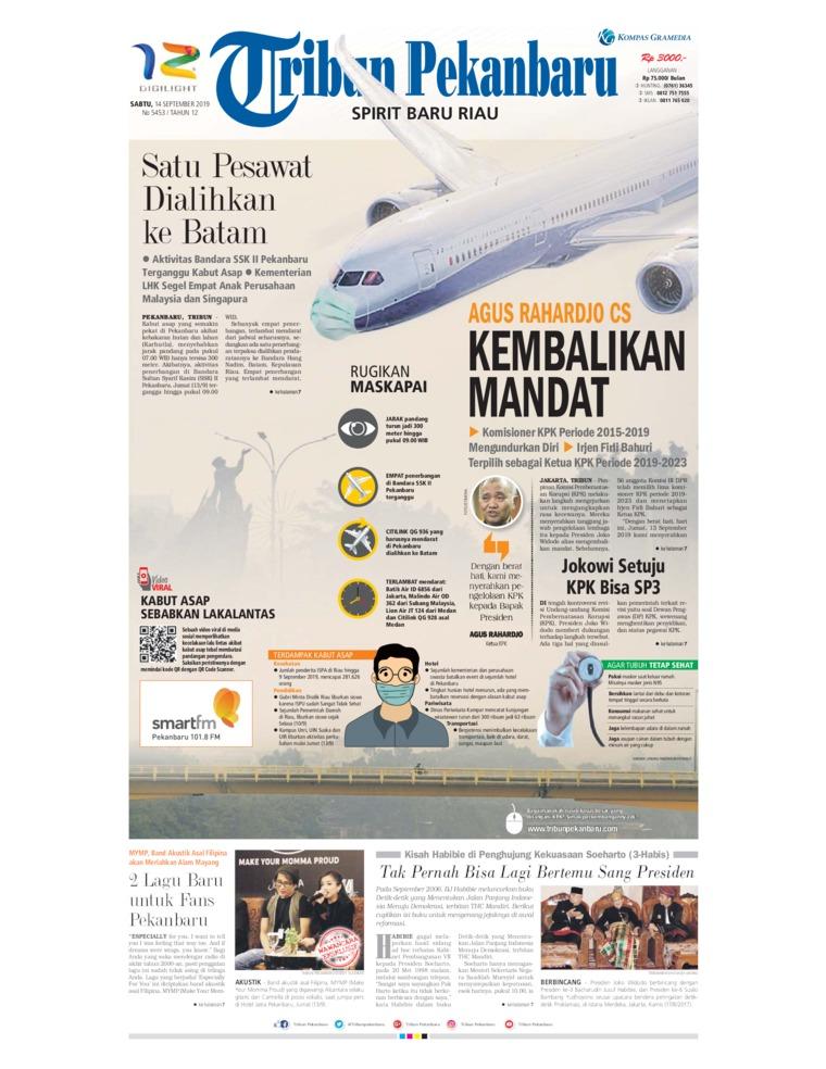 Tribun Pekanbaru Digital Newspaper 14 September 2019