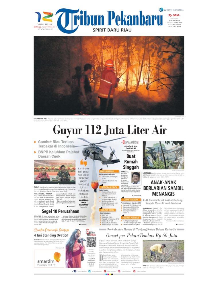Tribun Pekanbaru Digital Newspaper 15 September 2019