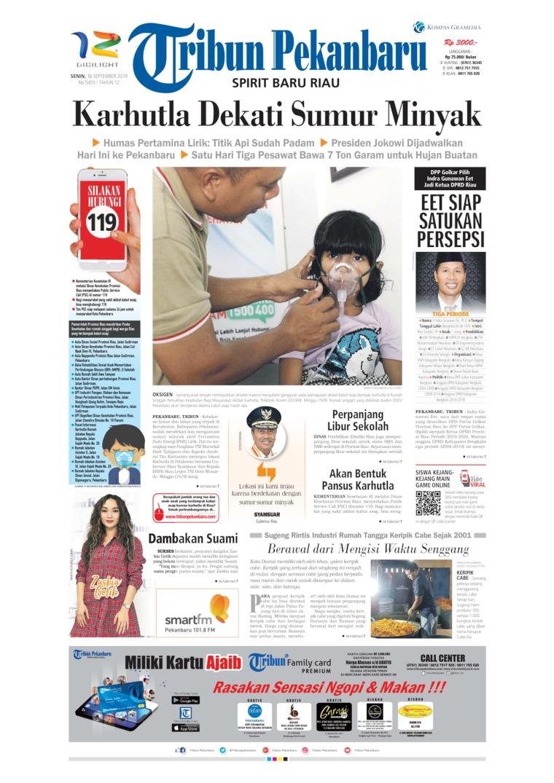 Koran Digital Tribun Pekanbaru 16 September 2019