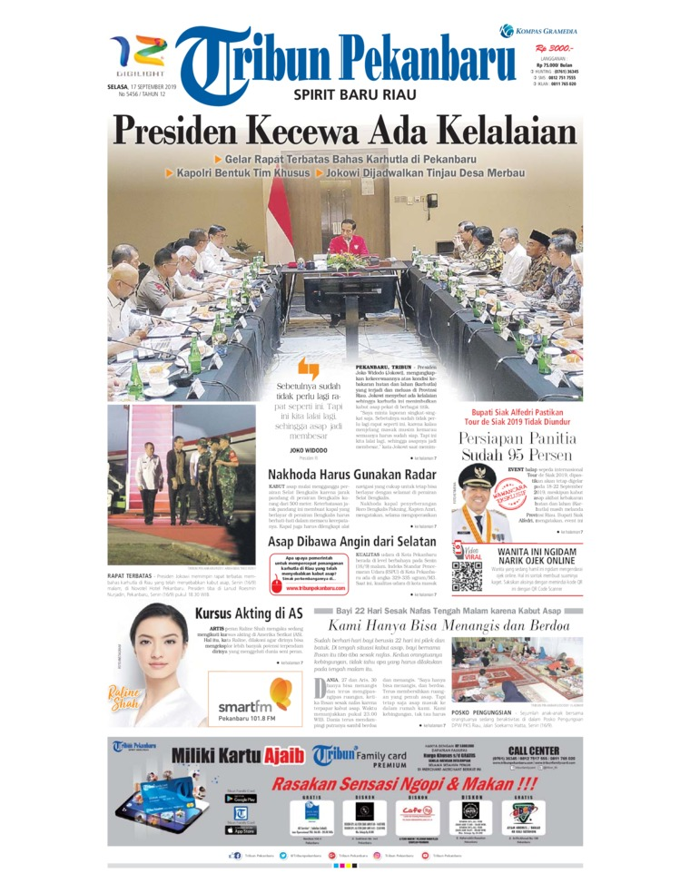 Koran Digital Tribun Pekanbaru 17 September 2019