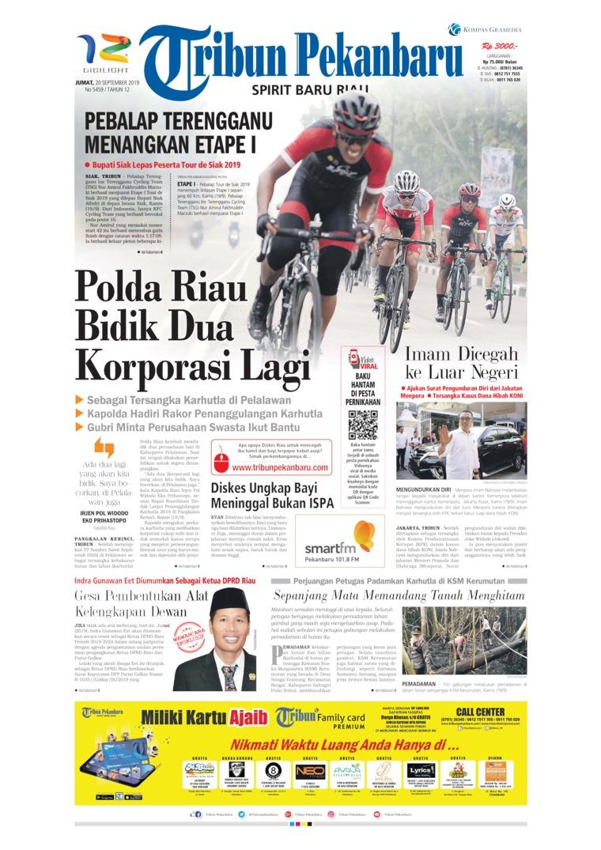 Koran Digital Tribun Pekanbaru 20 September 2019