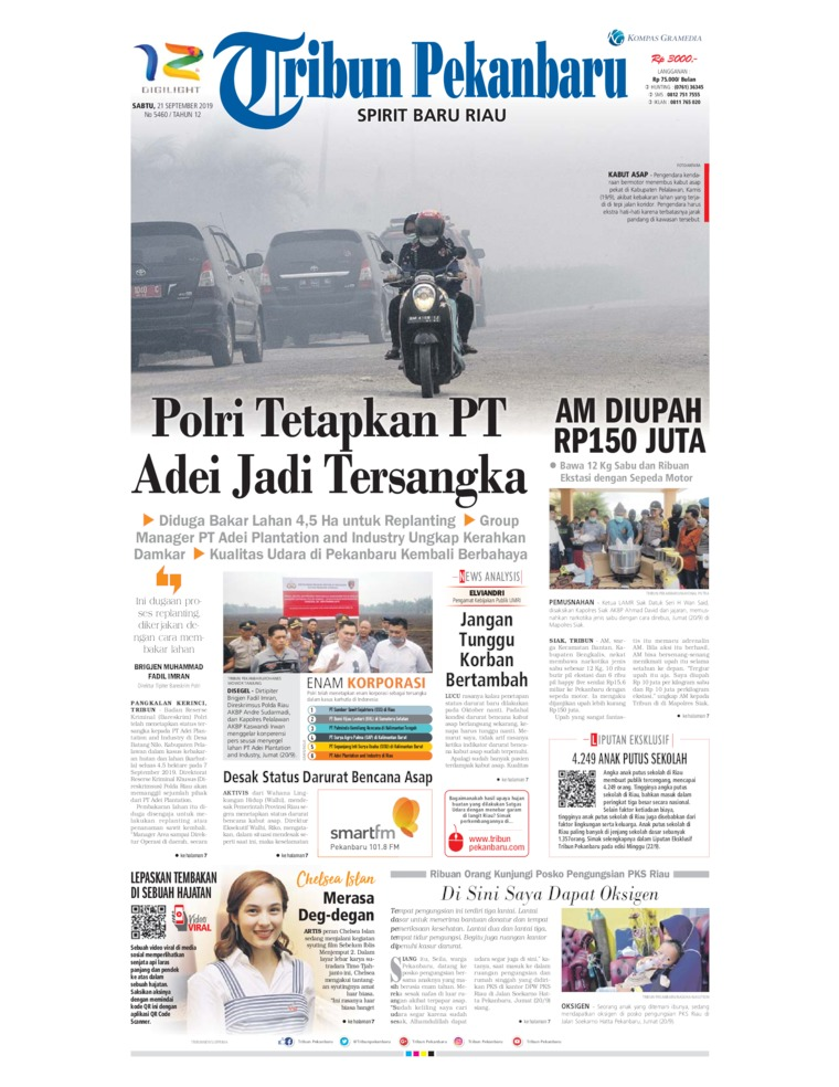 Tribun Pekanbaru Digital Newspaper 21 September 2019