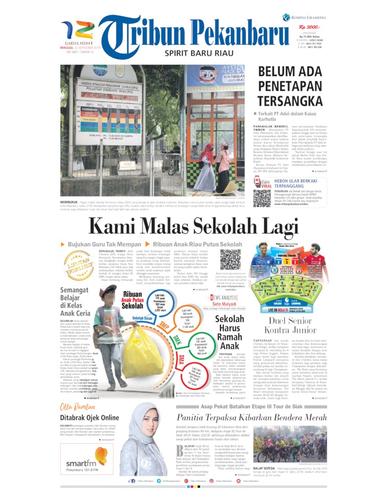 Tribun Pekanbaru Digital Newspaper 22 September 2019