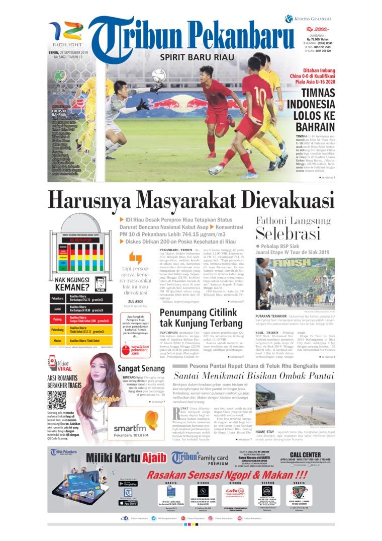 Koran Digital Tribun Pekanbaru 23 September 2019