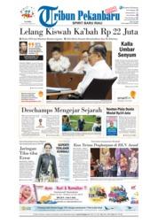 Cover Tribun Pekanbaru 12 Juli 2018