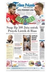 Cover Tribun Pekanbaru 14 Juli 2018