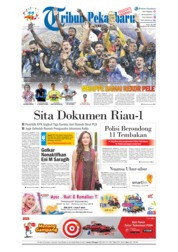 Cover Tribun Pekanbaru 16 Juli 2018