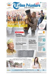 Cover Tribun Pekanbaru 21 September 2018