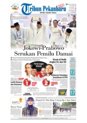 Cover Tribun Pekanbaru 22 September 2018